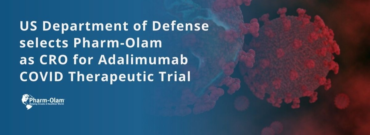 US Department of Defense selects Pharm-Olam as CRO for Adalimumab COVID Therapeutic Trial