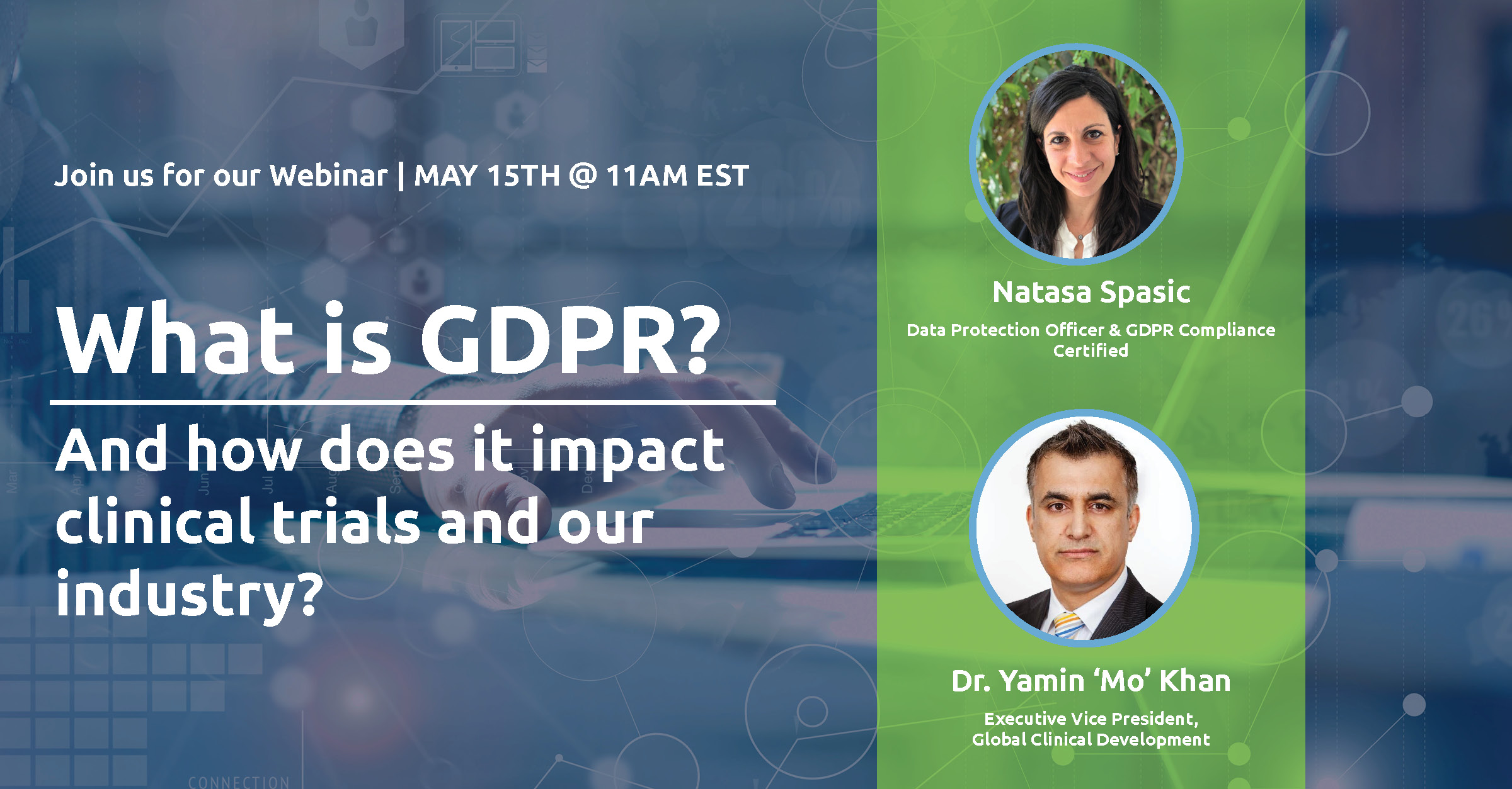 Pharm-Olam International Invites Pharmaceutical and Biotechnology Professionals to Its May 15th Live Webinar in Preparation for the GDPR Implementation Across Global Clinical Trial Industry