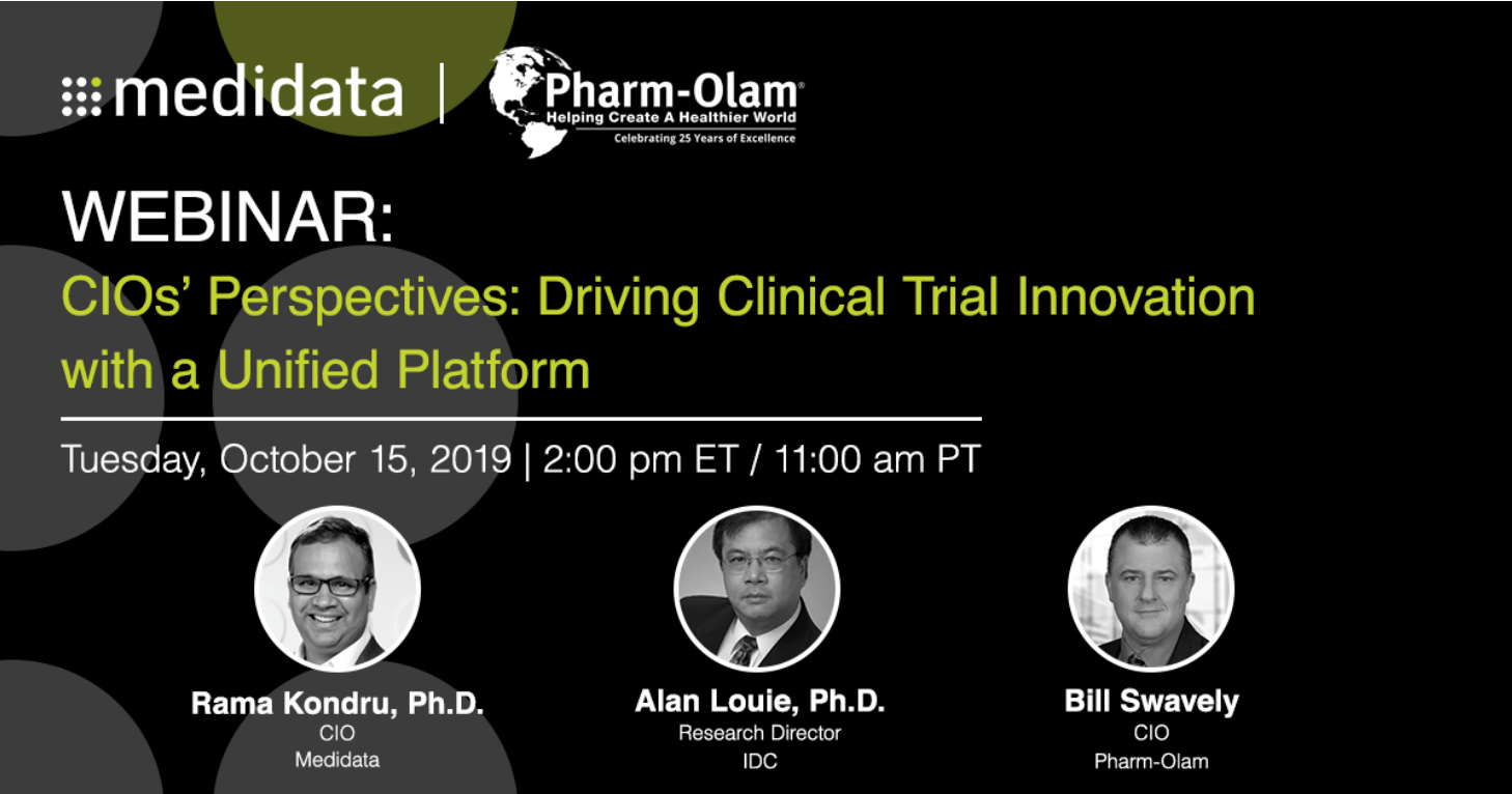 Webinar: CIO's Perspectives: Driving Clinical Trial Innovation with a Unified Platform