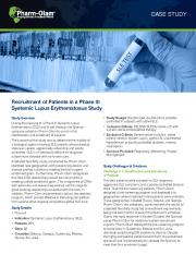 Recruitment of Patients in a Phase III Systemic Lupus Erythematosus Study