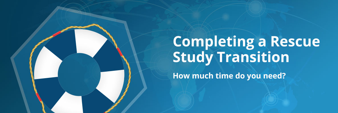 Completing a Rescue Study Transition - How Much Time Do You Need?