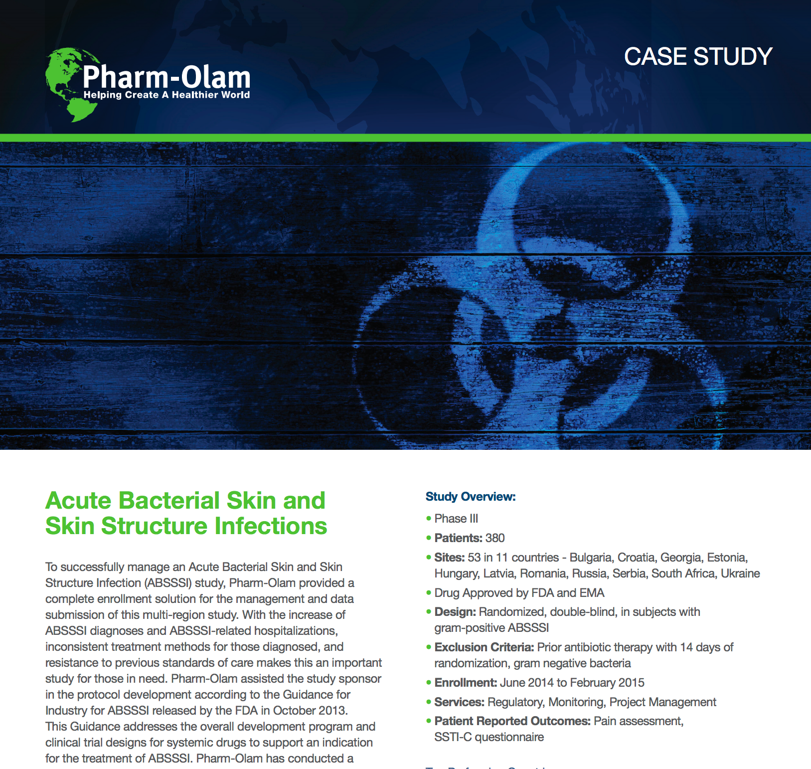 Acute Bacterial Skin and Skin Structure Infection (ABSSSI)