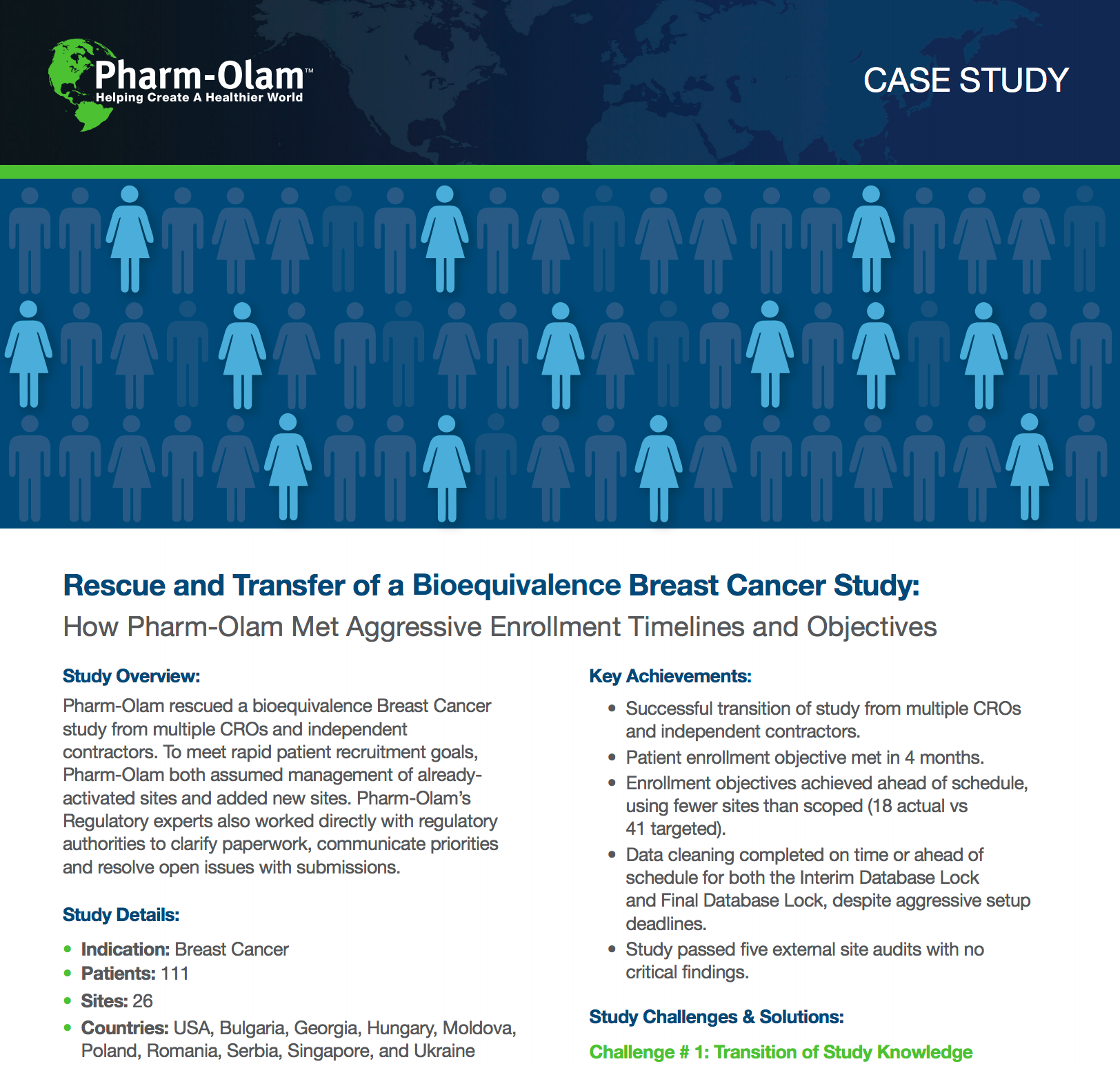 Rescue and Transfer of a Bioequivalence Breast Cancer Study